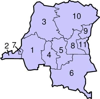 CONGO PROVINCES