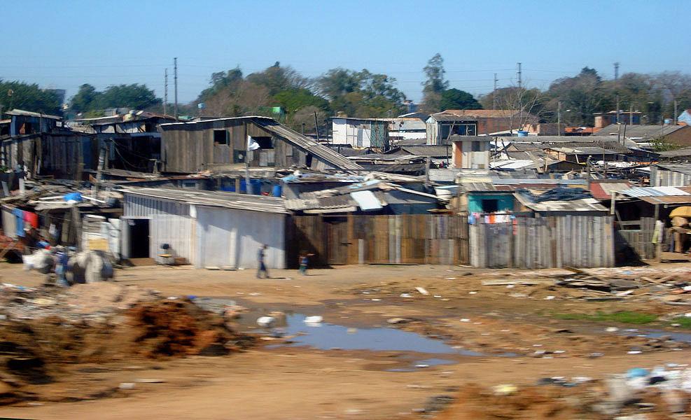 Slum in Porto Alegre, Brazil.