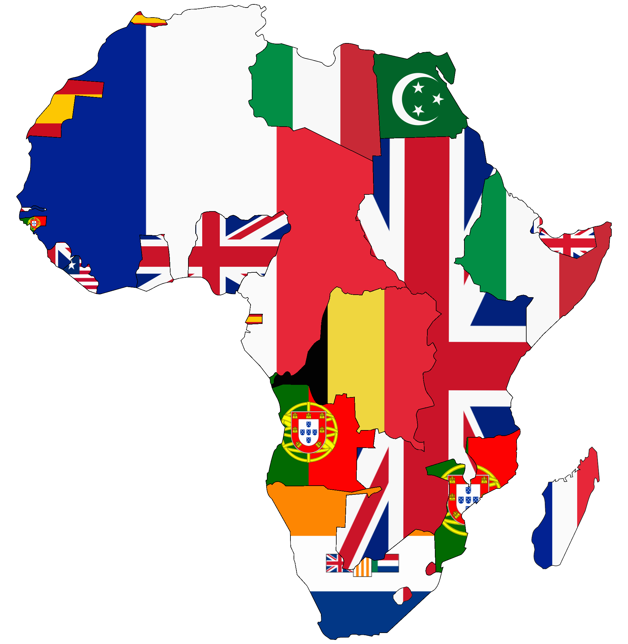 Map Of Africa With Flags.File Flag Map Of Colonial Africa 1939 Png Wikimedia Commons
