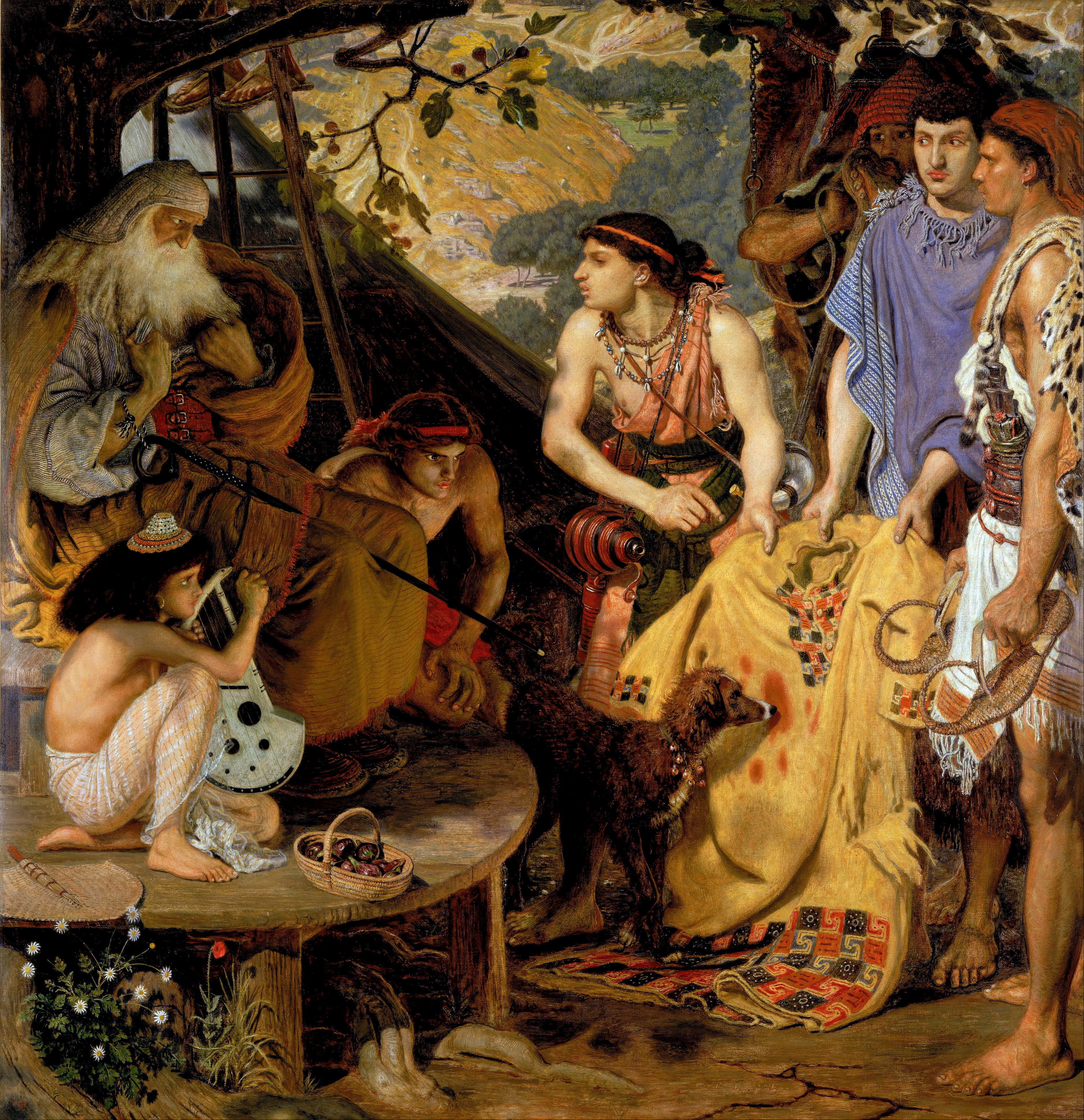 File Ford Madox Brown The Coat Of Many Colours Google