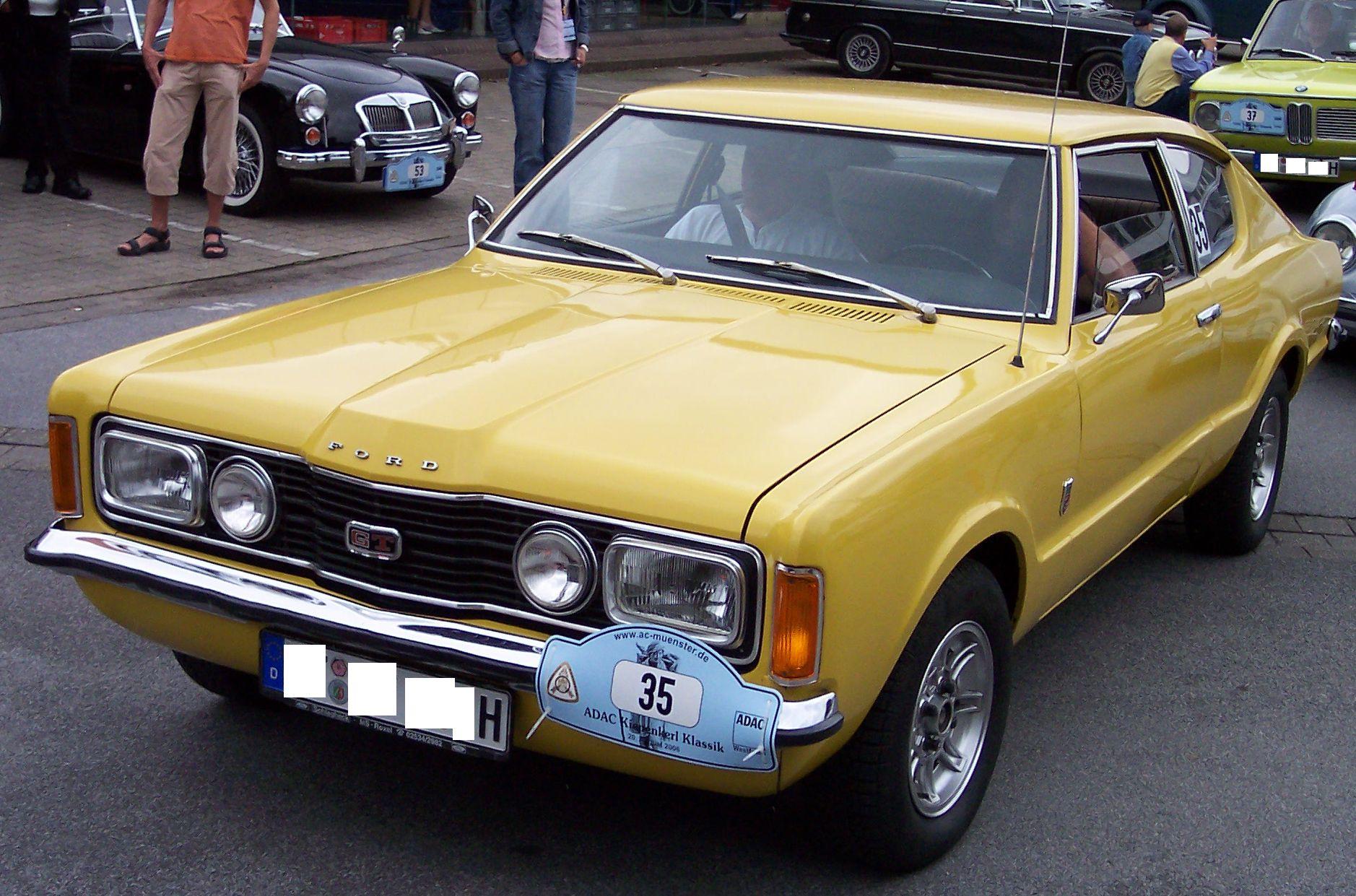 File Ford Taunus Coupe 2 0 1972 Yellow Vl2 Jpg Wikimedia