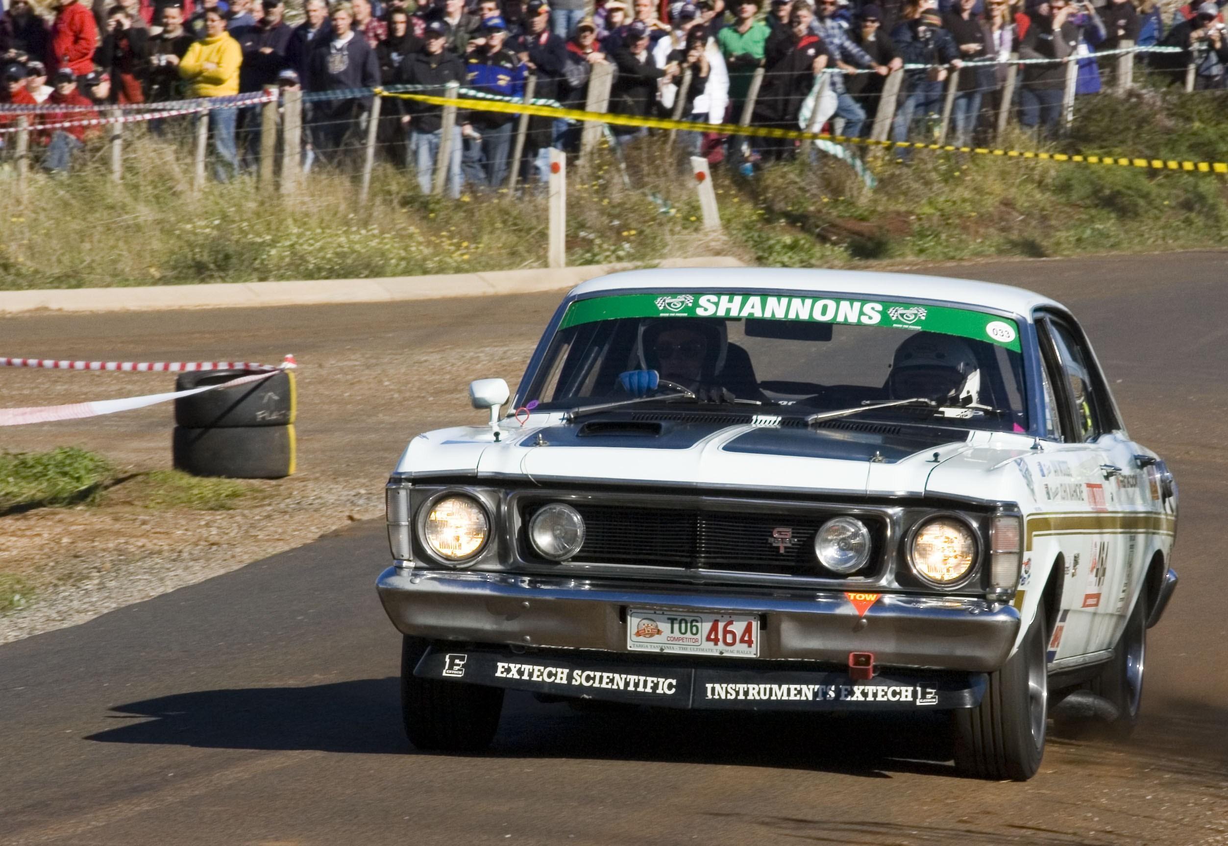 1969 Ford XW Falcon GT (replica) racing in Targa Tasmania