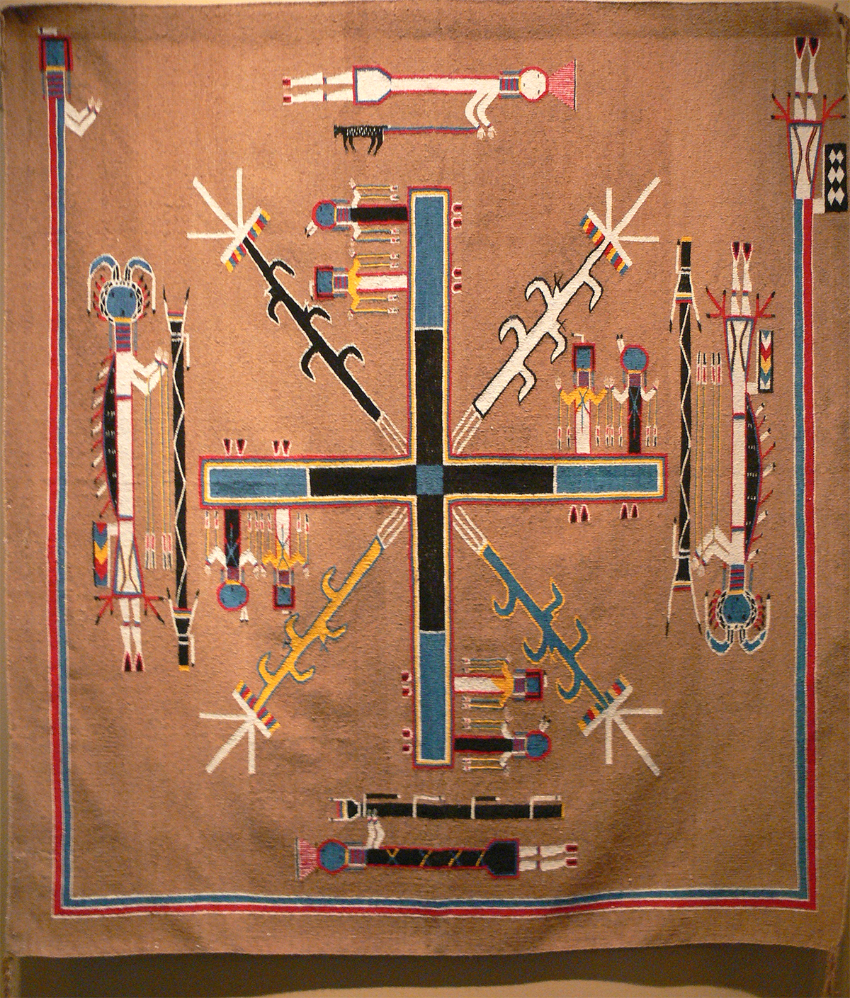 File gilcrease navajo sandpainting rug wikimedia for Airbrushing mural
