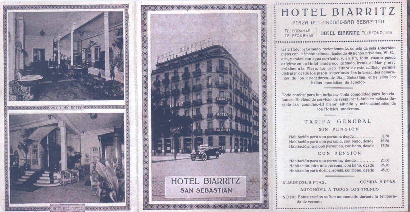 Banos San Sebastian.File Hotel Biarritz Arenal 1912 Jpg Wikimedia Commons