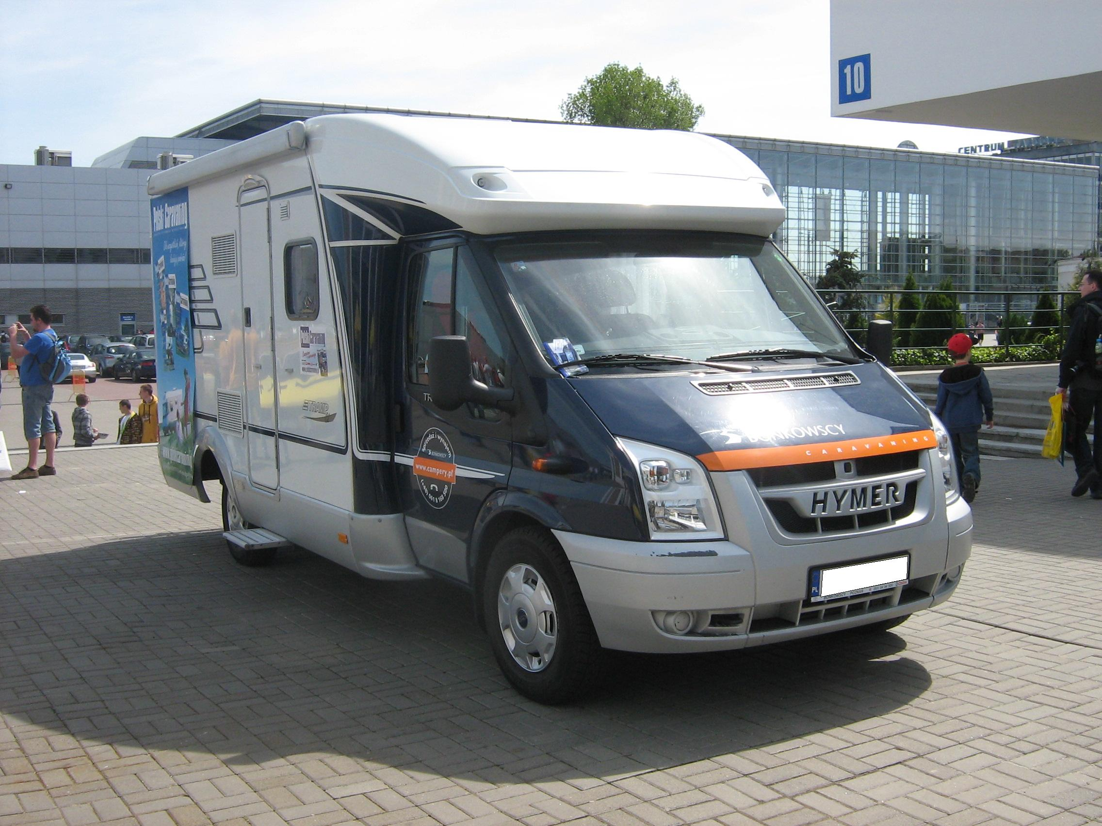 File Hymer Ford Transit Vi Camper Front In Front Of The