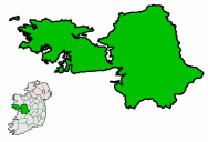 Ireland map County Galway