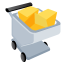 "English: A shopping cart full icon from ""..."
