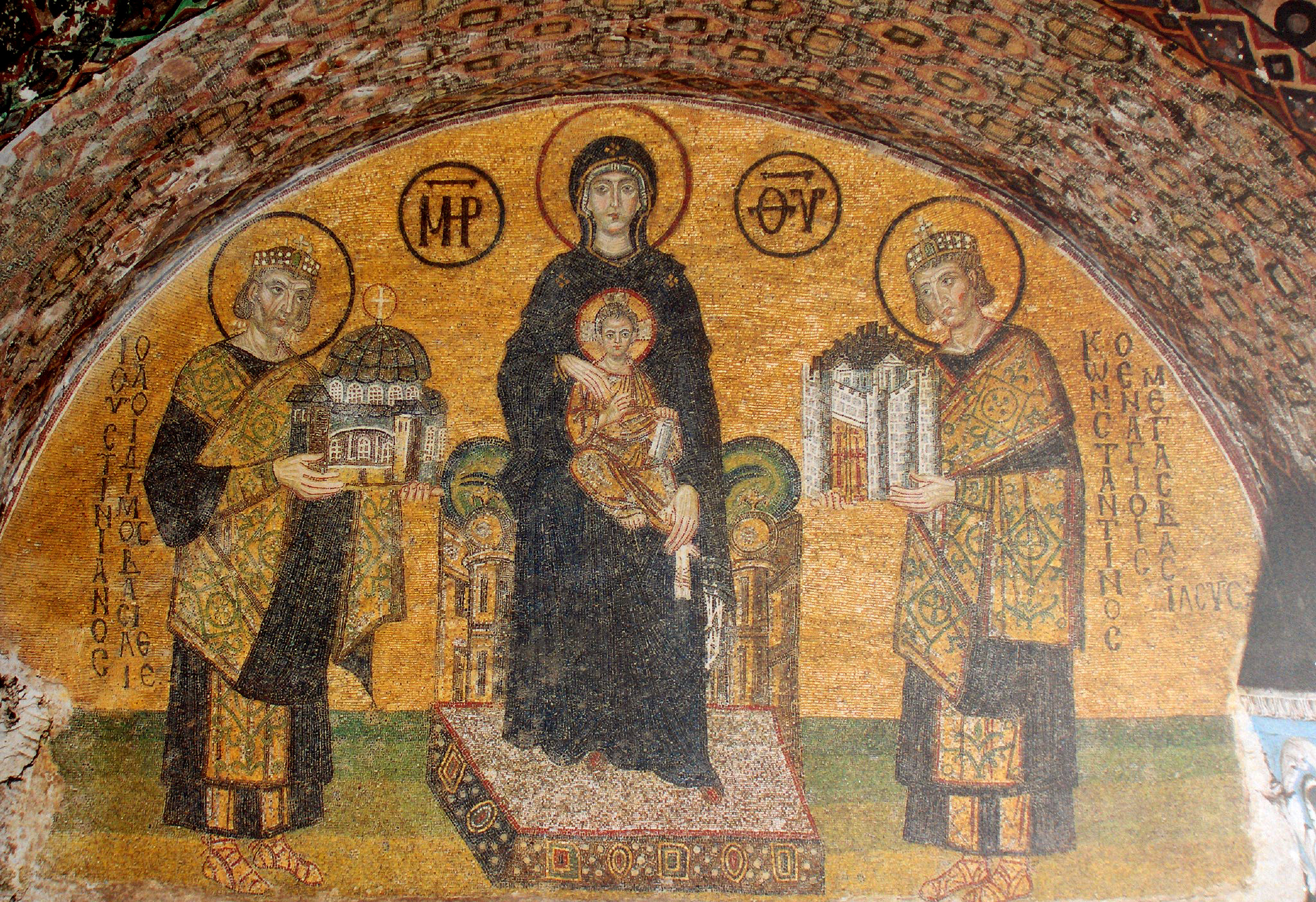 Virgin and Child flanked by Justinian I and Constantine I