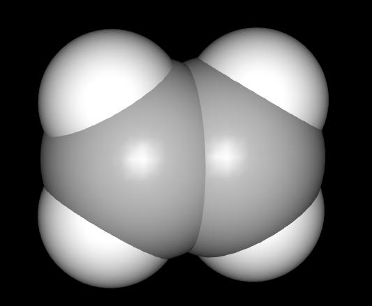 Kalottenmodell des Ethen (space filling model of ethene)