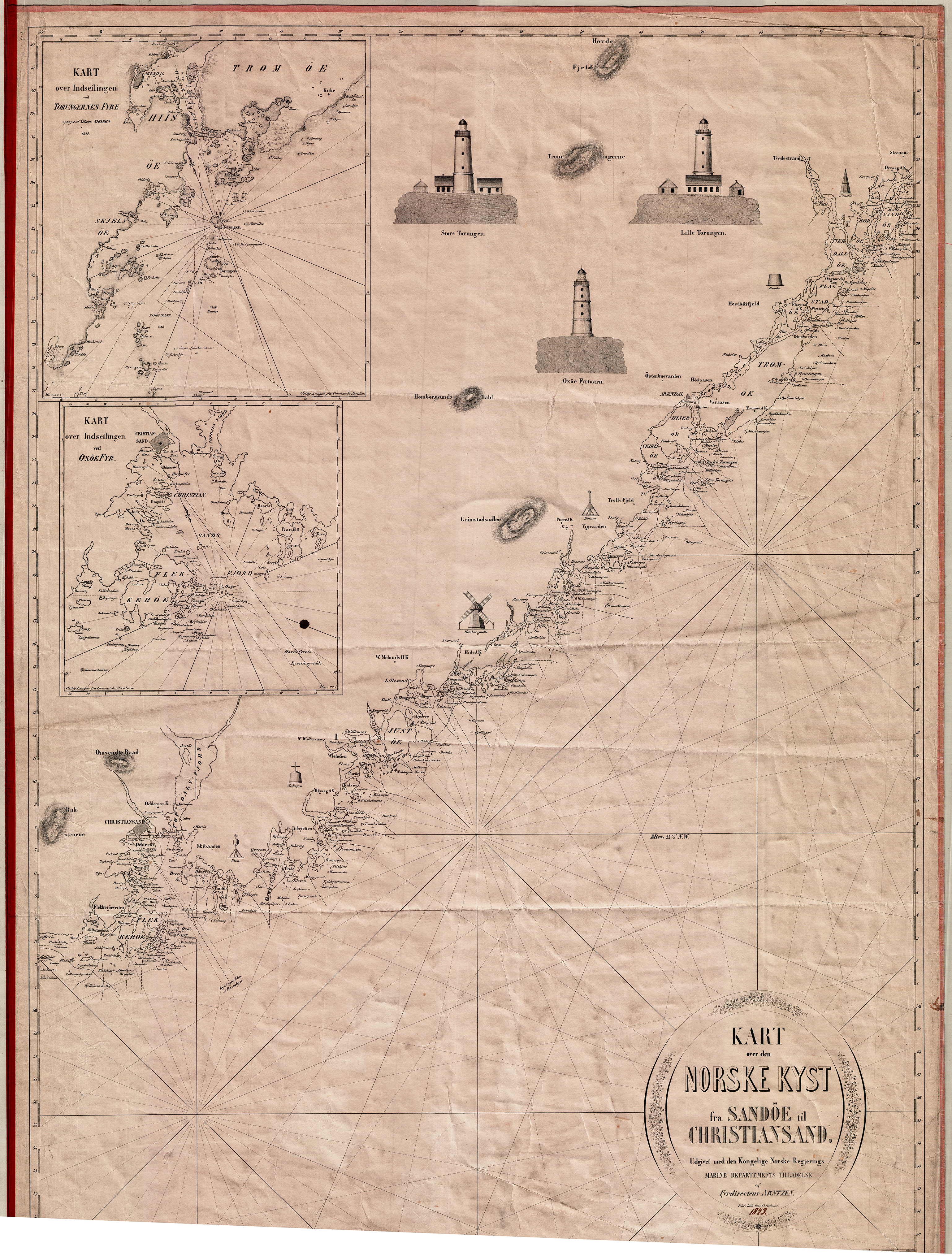 kart kyst File:Kart over kysten av Norge fra Kristiansand til Sandøya.png  kart kyst