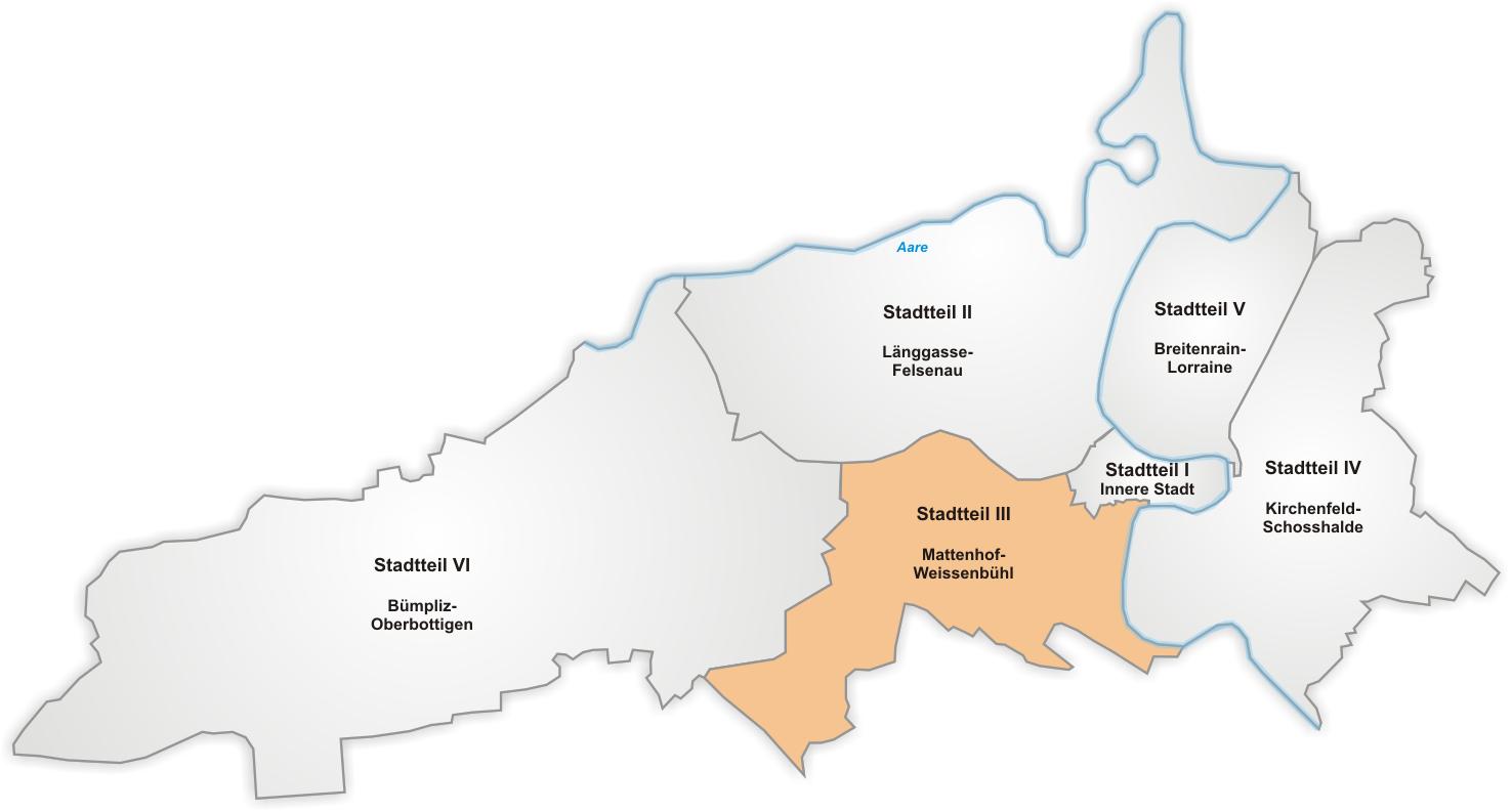 Lage von Mattenhof-Weissenbühl