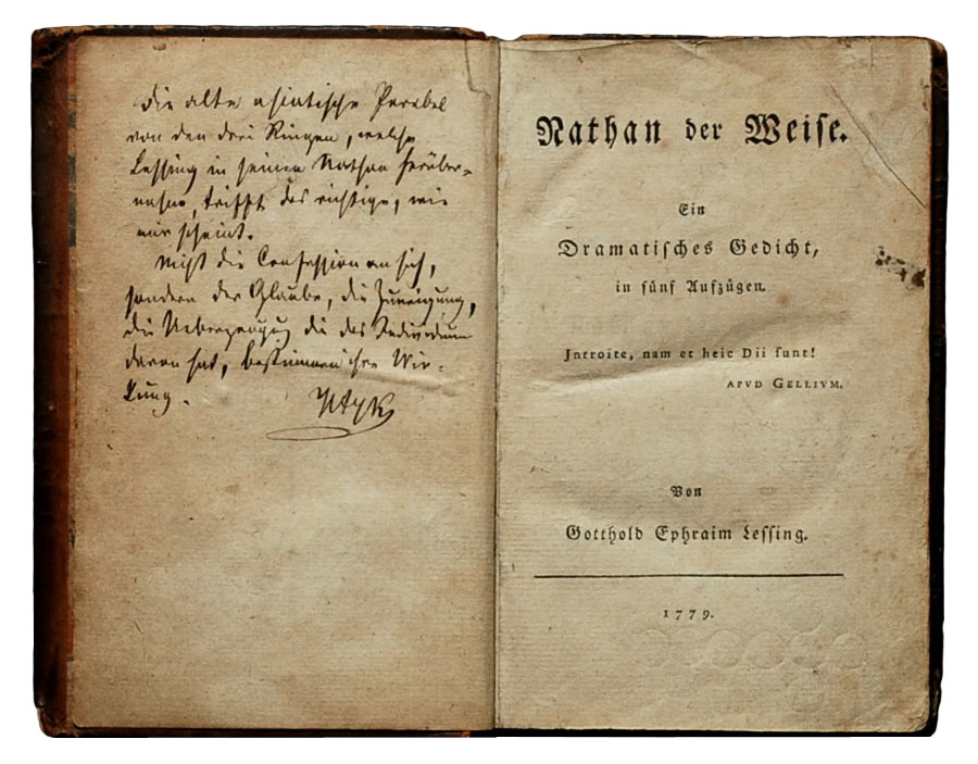 an analysis of the play nathan the wise by gotthold lessing Of the triple state of the world (gesta romanorum) the parable of the three  rings (abstracted from nathan der weise, a drama by gotthold ephraim lessing.