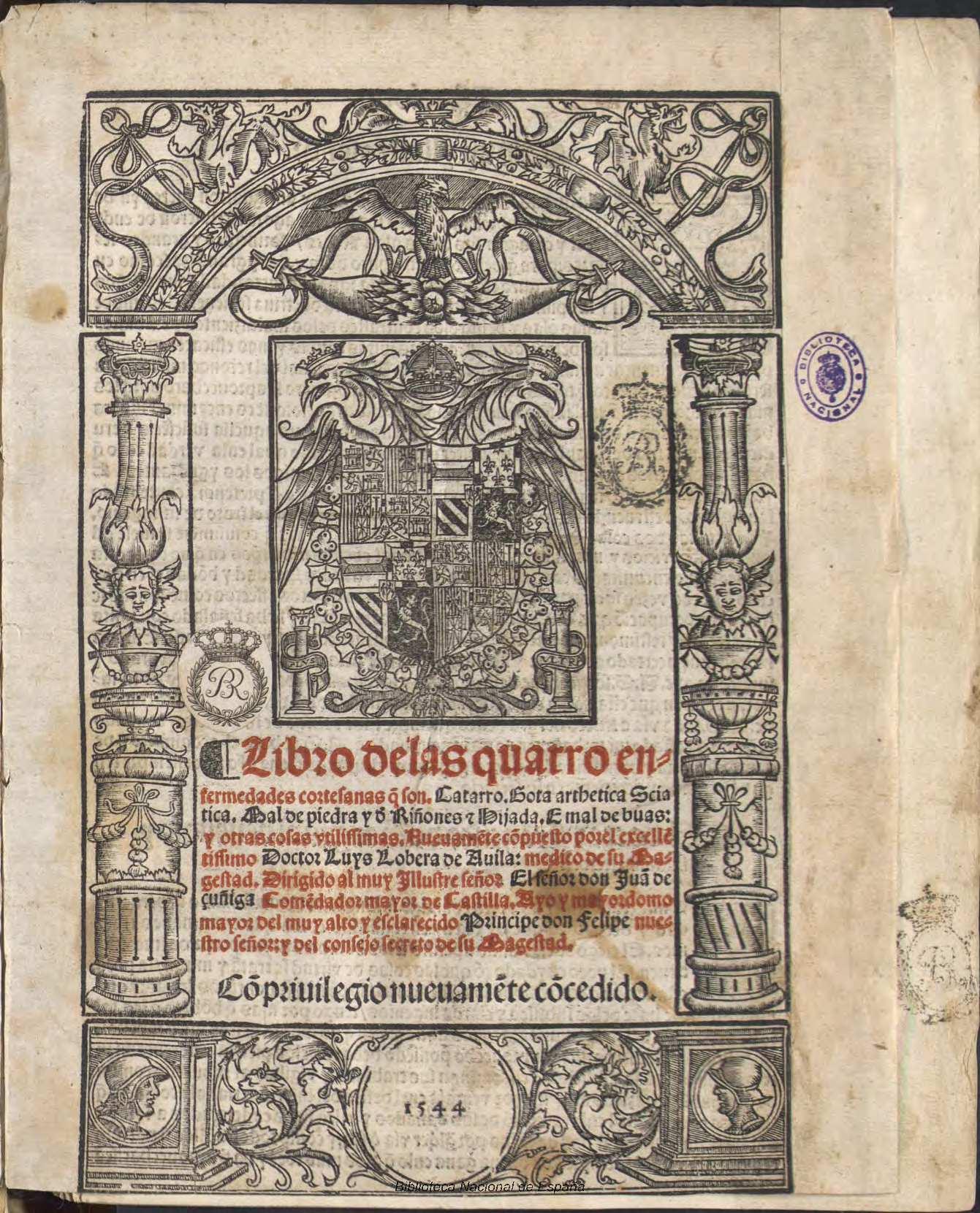 File:Libro de las quatro enfermedades cortesanas 1544 Luis Lobera de  Ávila.jpg