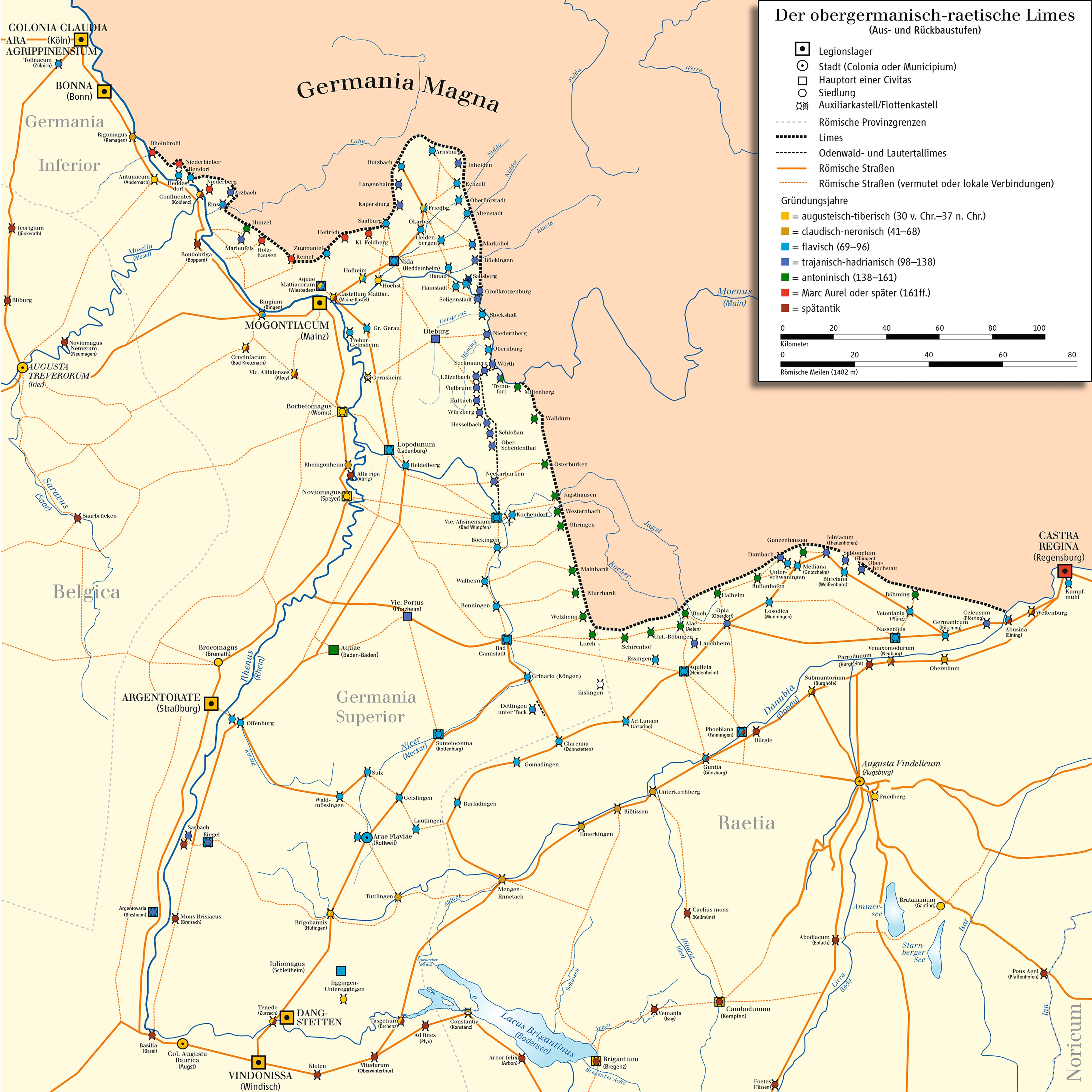 Landkarte Limes (Wikimedia)