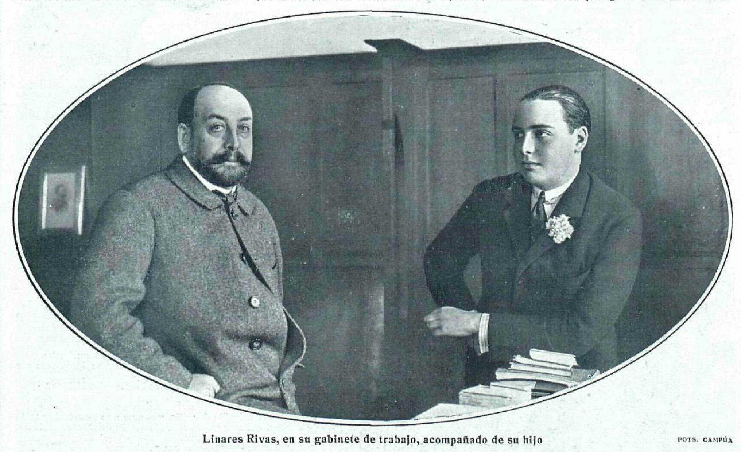 Archivo:Linares Rivas en su gabinete de trabajo acompañado de su ...
