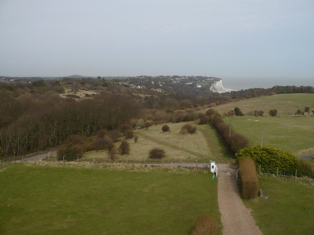 Looking towards St. Margaret's Bay from the top of the South Foreland Lighthouse - geograph.org.uk - 743093