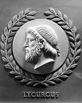 Lycurgus bas-relief in the U.S. House of Representatives chamber