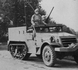 A rare picture of a M2 Half-Track in North Africa.