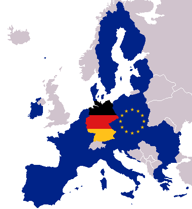 File Map Of Europe With European And German Flag Png Wikimedia Commons