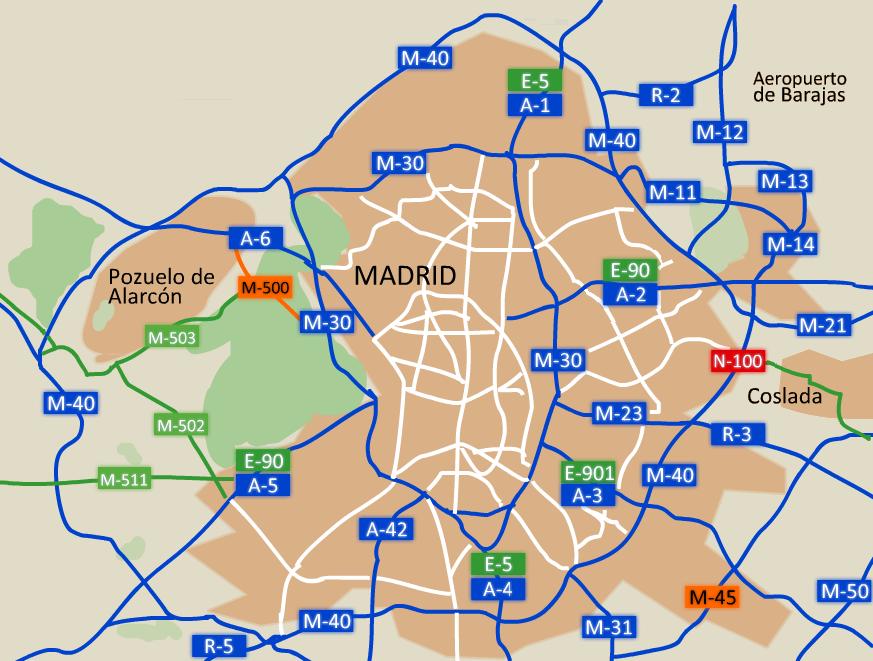 Depiction of Autopista M-40