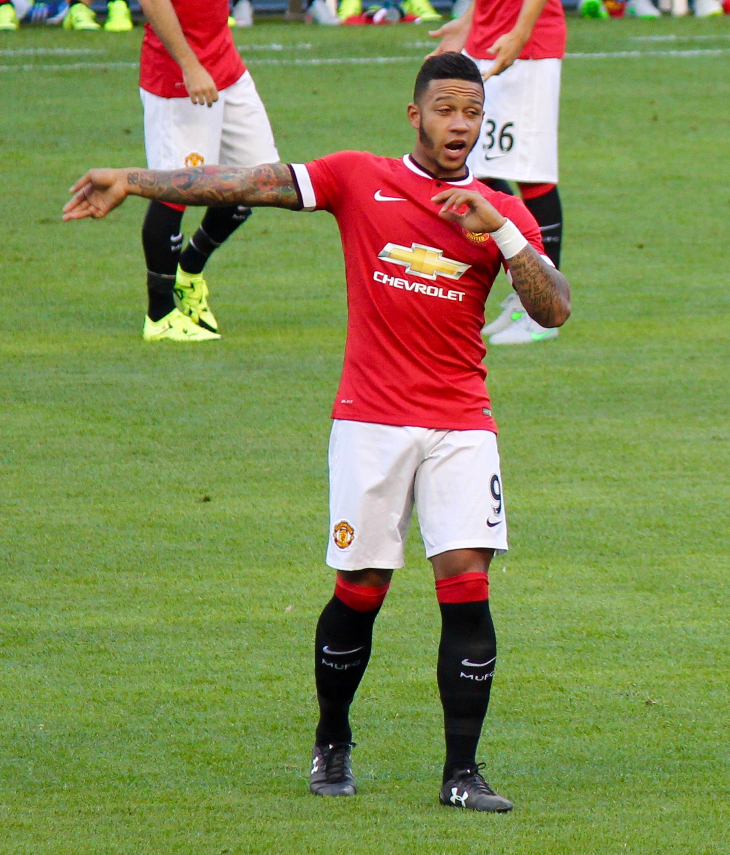 bfc01ca5d Manchester United. Memphis Depay playing for United in 2015
