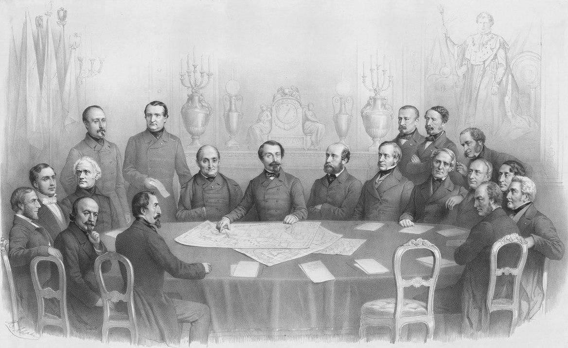 File:Napoléon III  Conseil de guerre, janvier 1856 jpeg