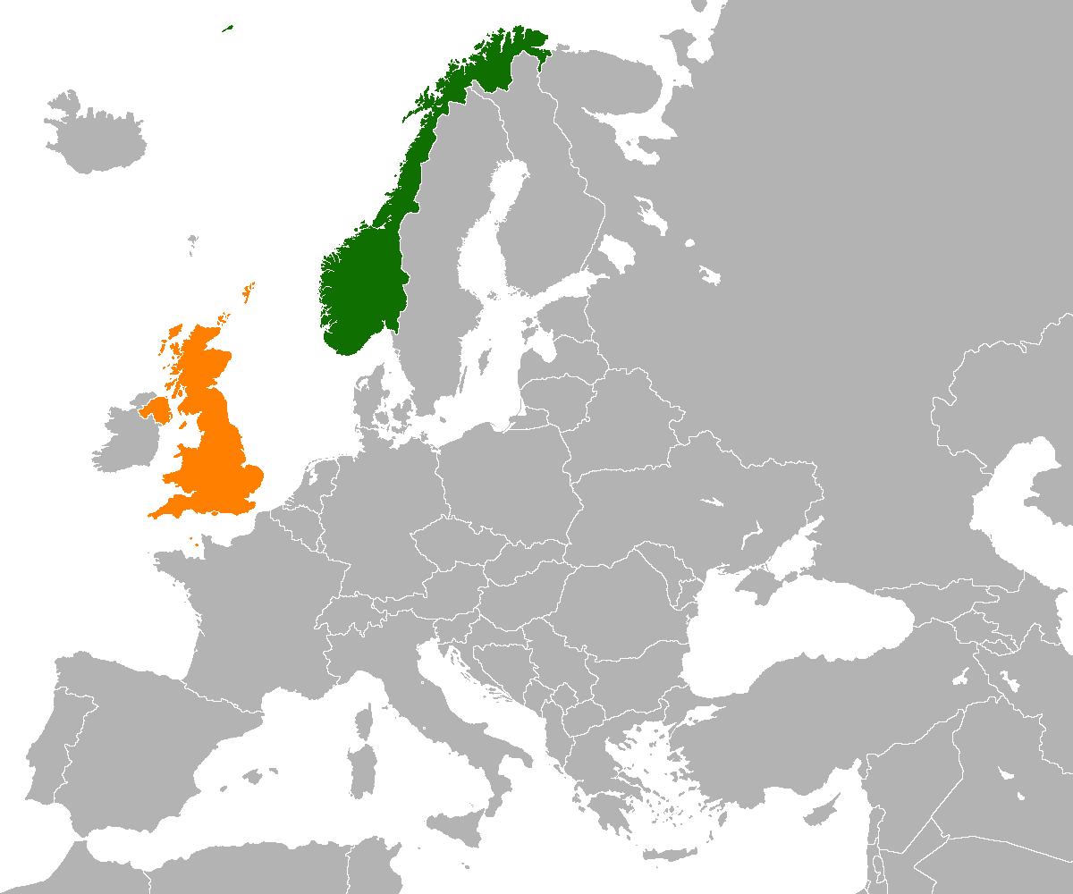 NorwayUnited Kingdom Relations Wikipedia - Norway map world