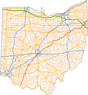 FileOhio Highway Map with US Highway 62 highlighted in redpng