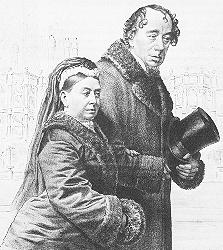 Disraeli and Queen Victoria, during the latter...