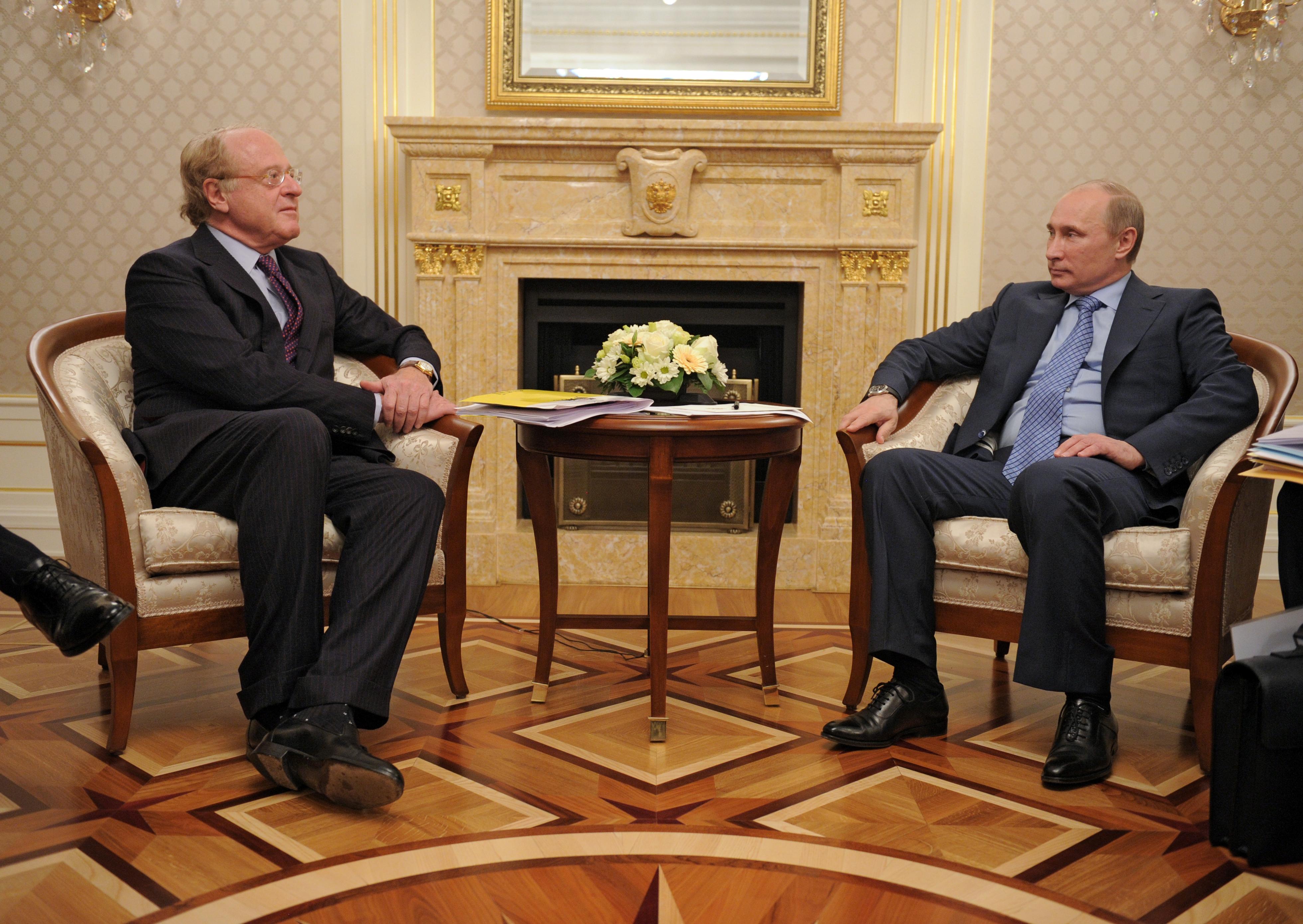 Filepaolo Scaroni And Vladimir Putin April   Jpeg