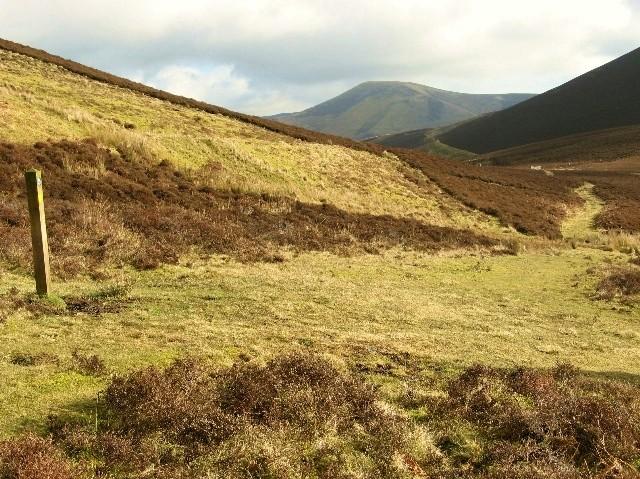 Path through the hills - geograph.org.uk - 342744