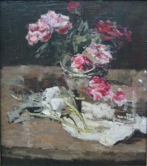 Peonies, Carl Schuch
