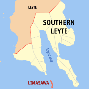 Map of Southern Leyte showing the location of Limasawa