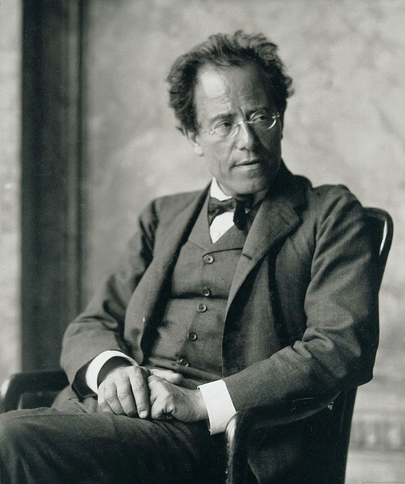 Photograph of Gustav Mahler in a suit.