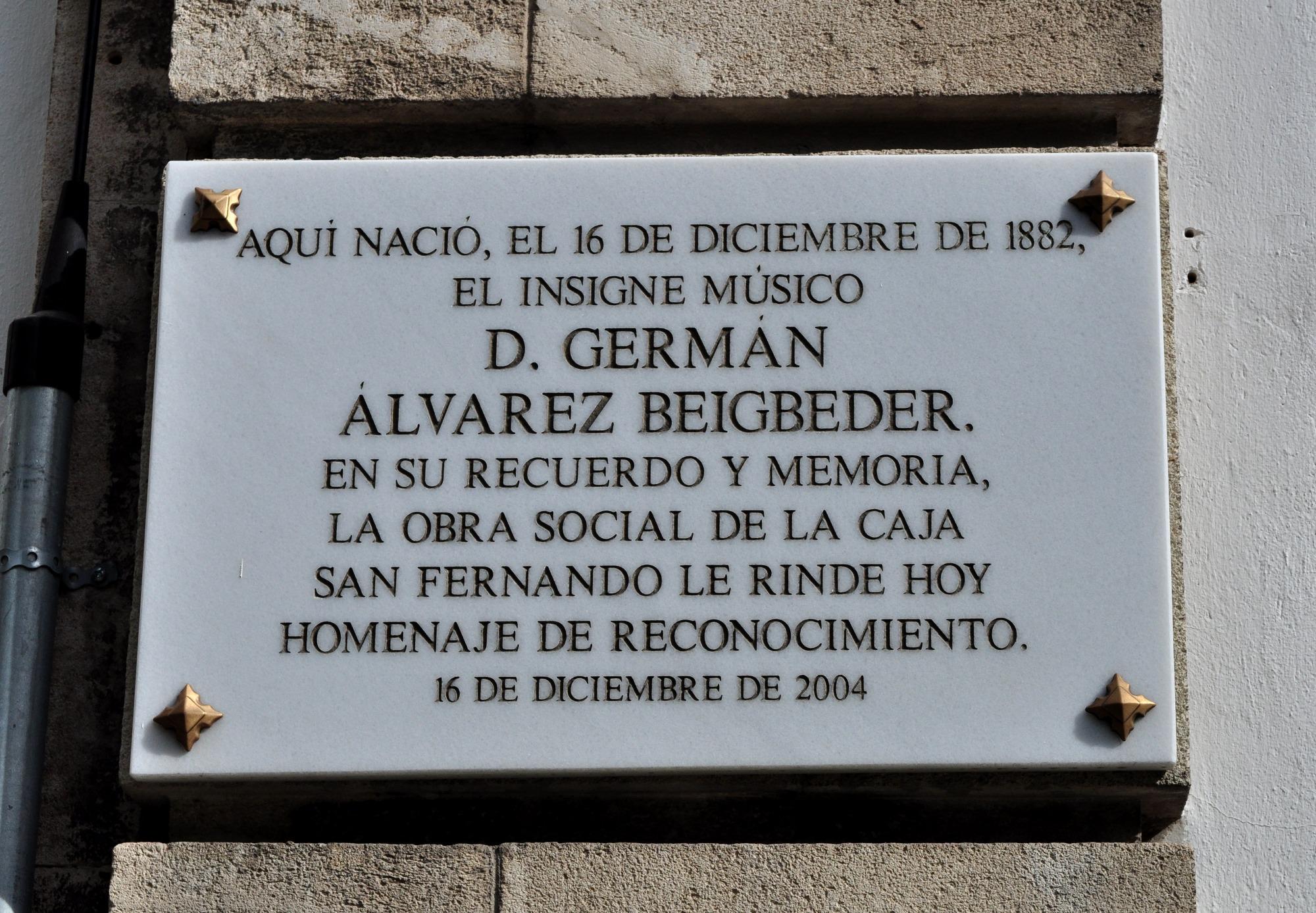 Germán álvarez Beigbeder Wikipedia La Enciclopedia Libre