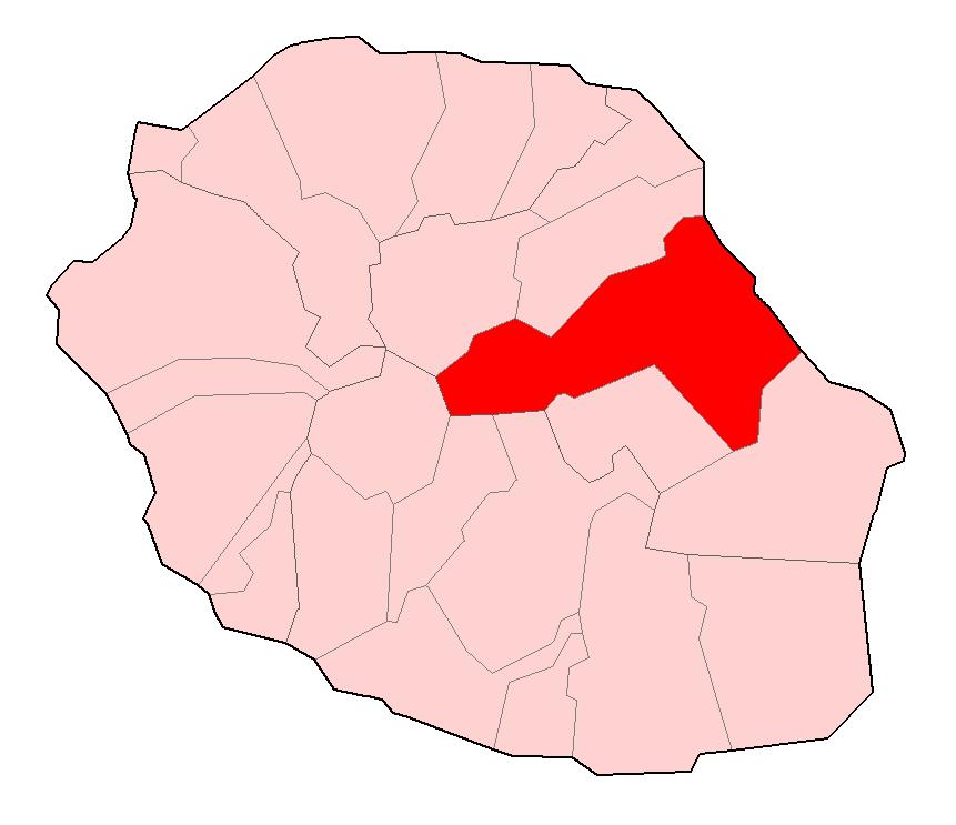 Commune of Saint-Benoît in Réunion Islan
