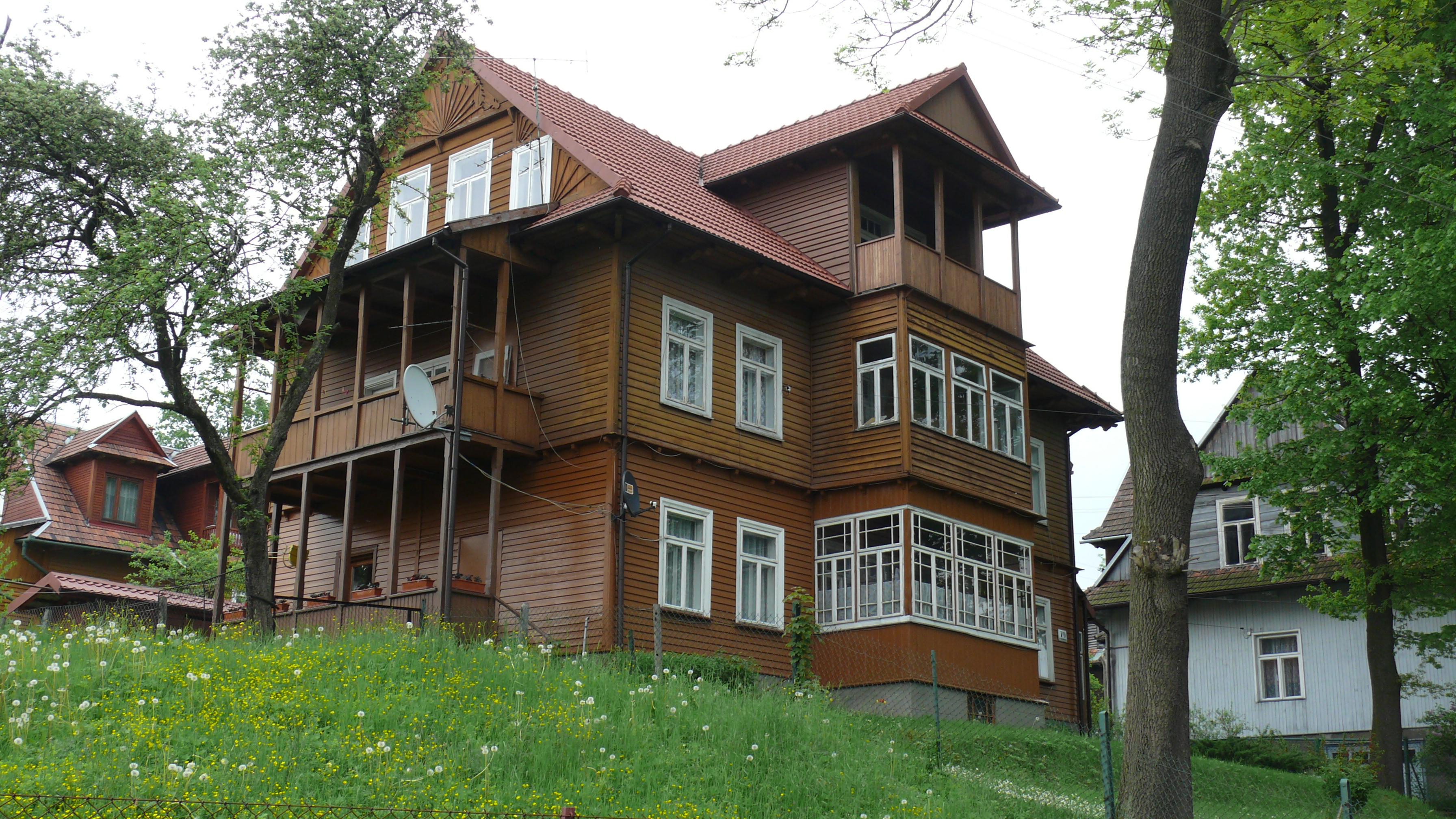 File rabka wooden house wikipedia - Casas de madera 2 plantas ...