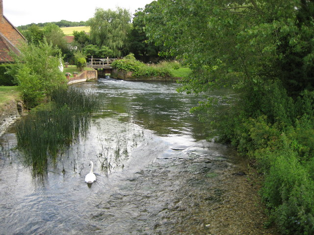 River Kennet at Stitchcombe (1) - geograph.org.uk - 1407938