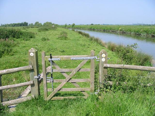 Route of Saxon Shore Way ahead - geograph.org.uk - 457178