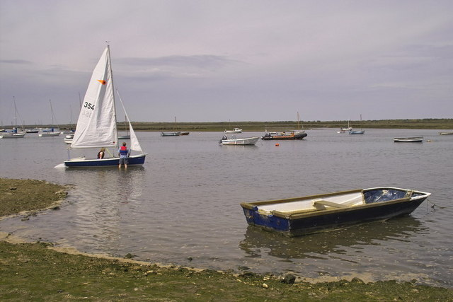 Sailing at Brancaster Staithe - geograph.org.uk - 661387