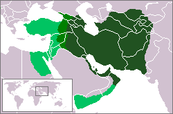 The Sassanid Empire at its greatest extent. SassanidEmpireTrueExtent.png