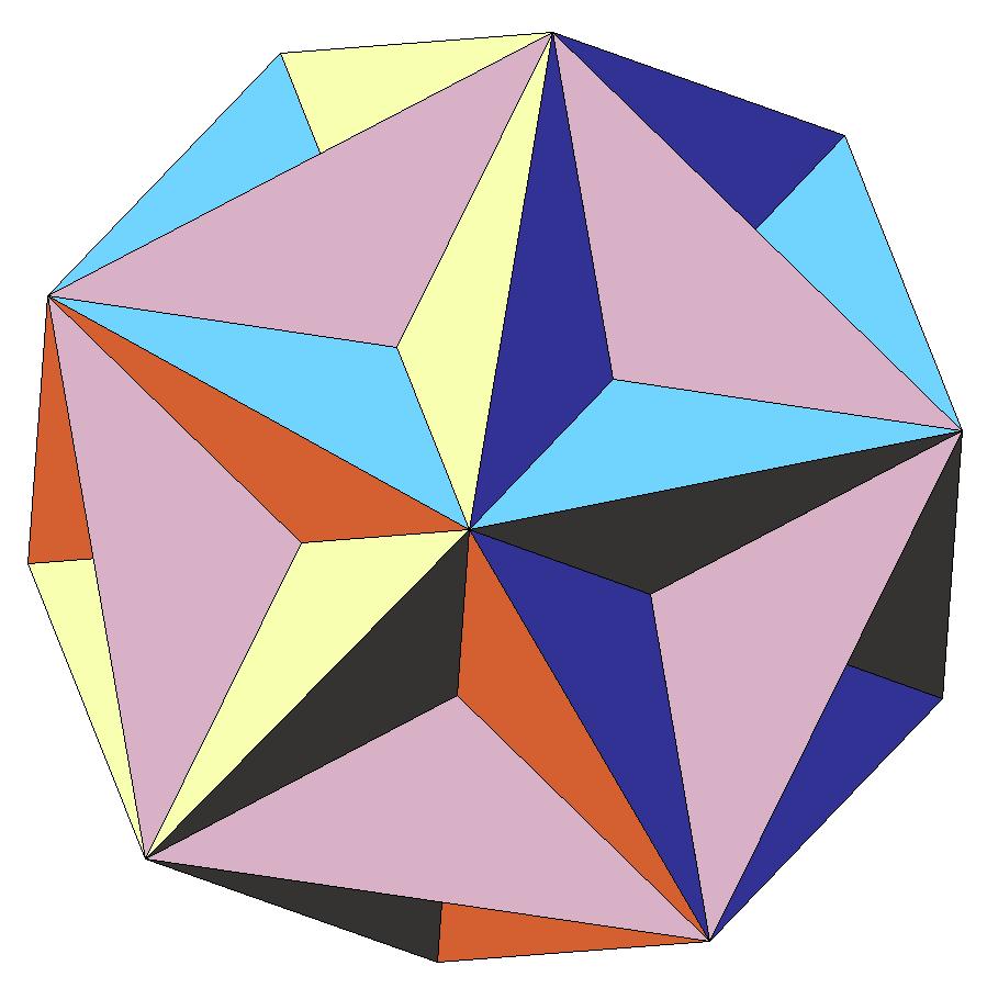 Как сделать третью форму звездчатого икосаэдра фото 182-564