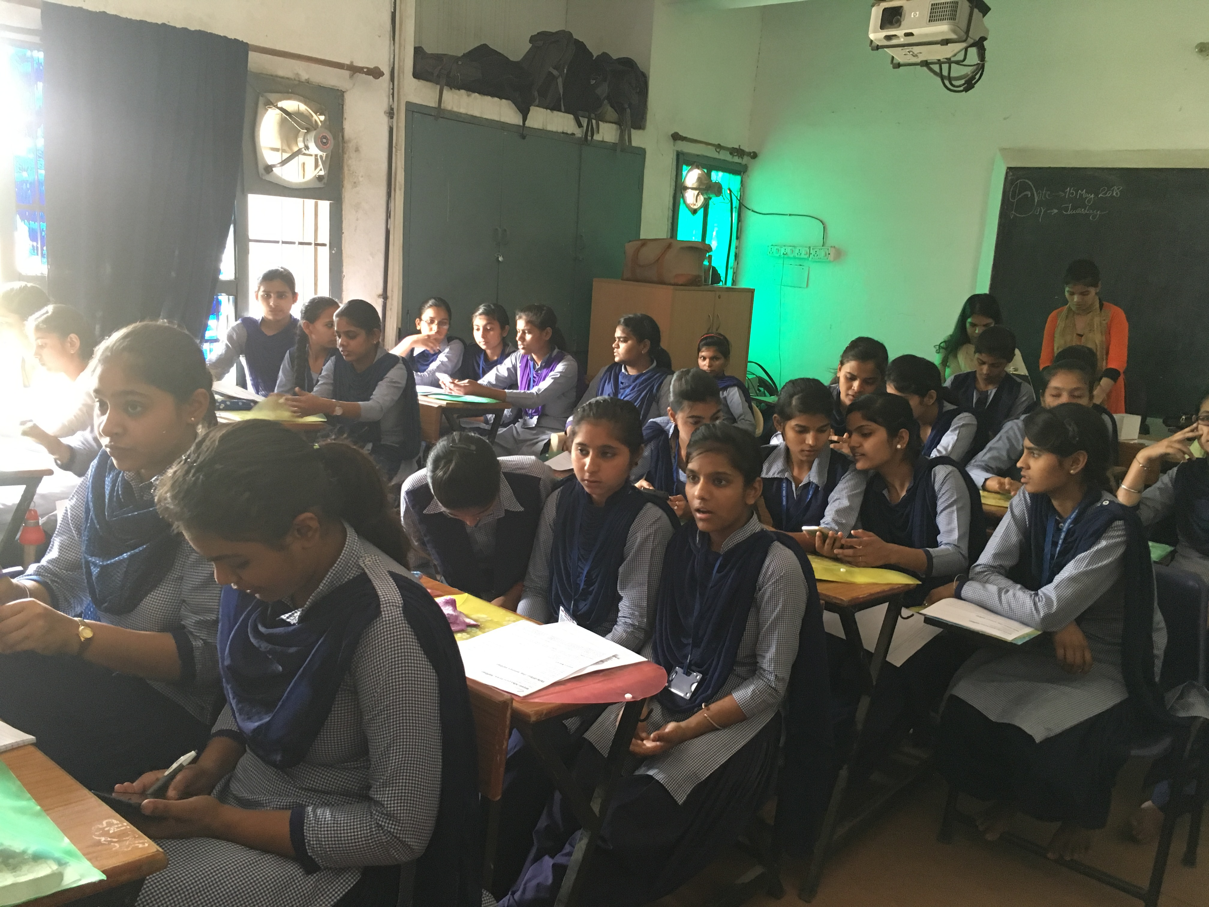File Students During Wiki Awareness Campaign Karnal 03 Jpg
