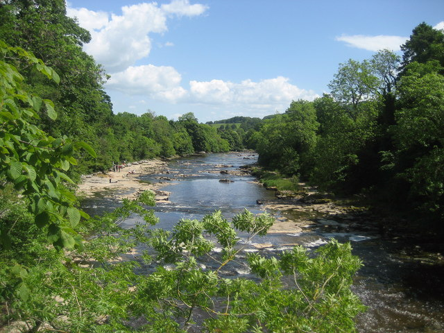 Summer below Aysgarth Falls - geograph.org.uk - 1358884
