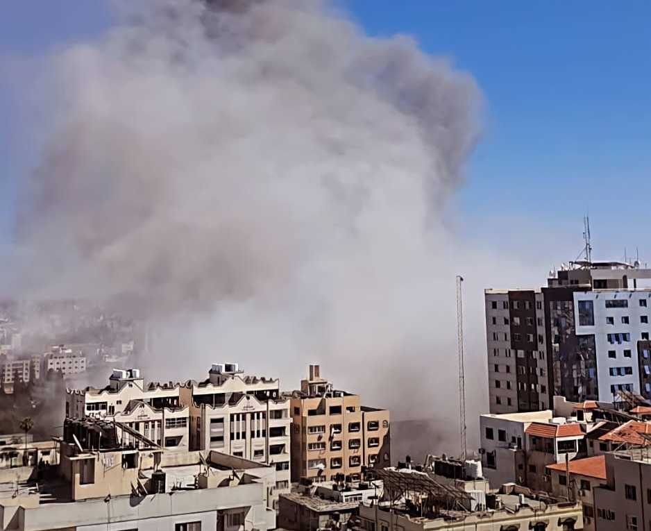 The Israeli Air Force bombed the press offices in Gaza 2021 (cropped).jpg