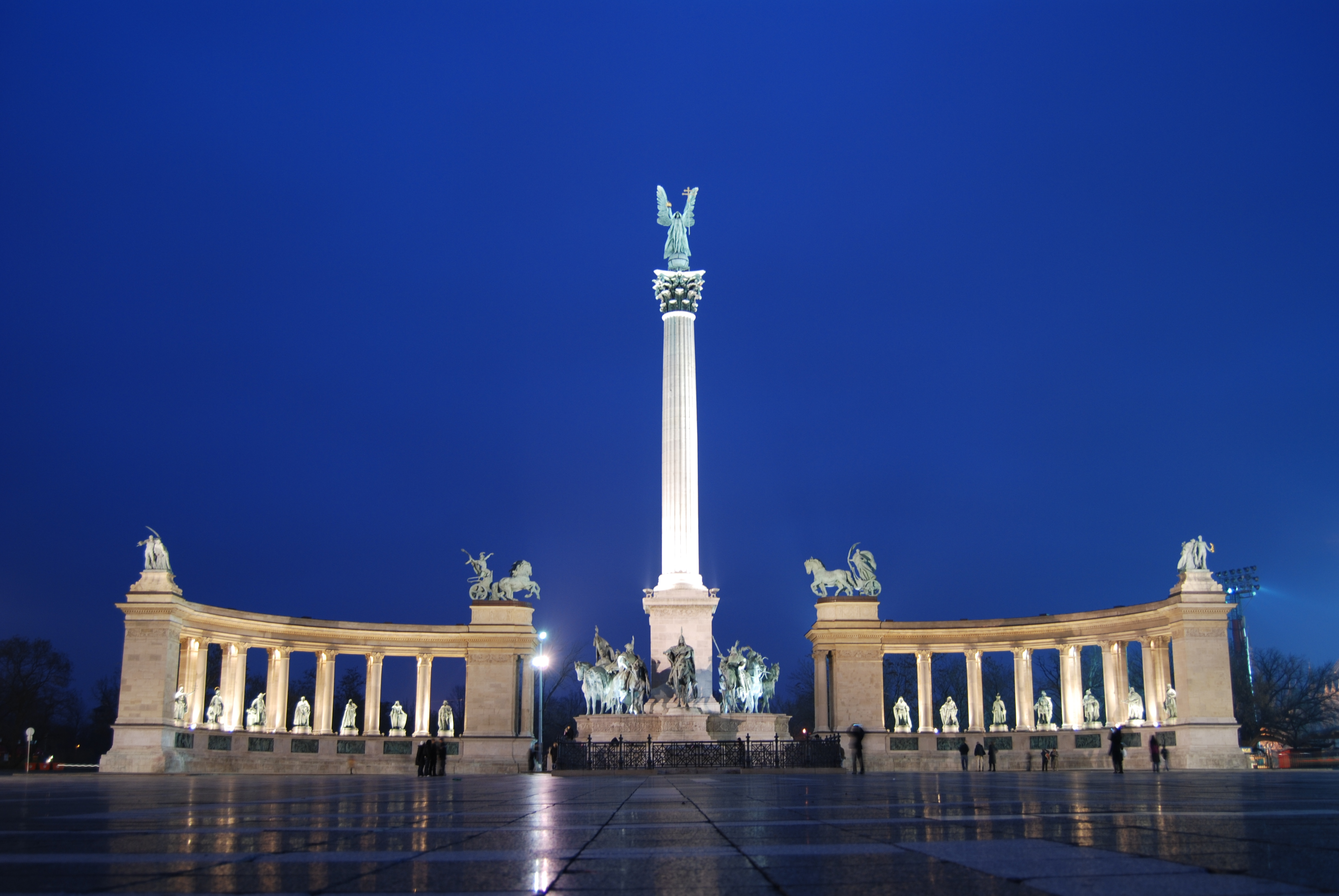 File The Millennium Monument In Heroes Square Budapest