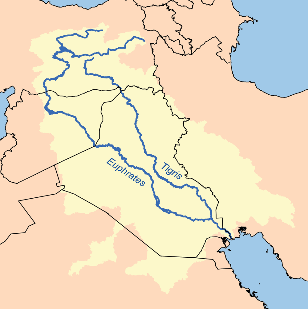 Map Of Asia Euphrates River.Tigris Euphrates River System Wikipedia