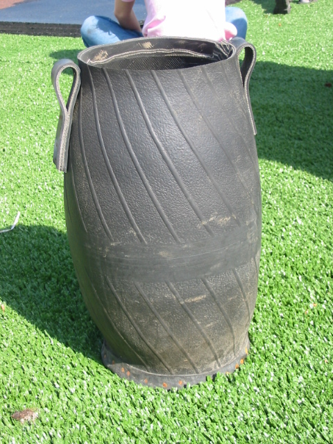 Old tractor tires for Old tire art