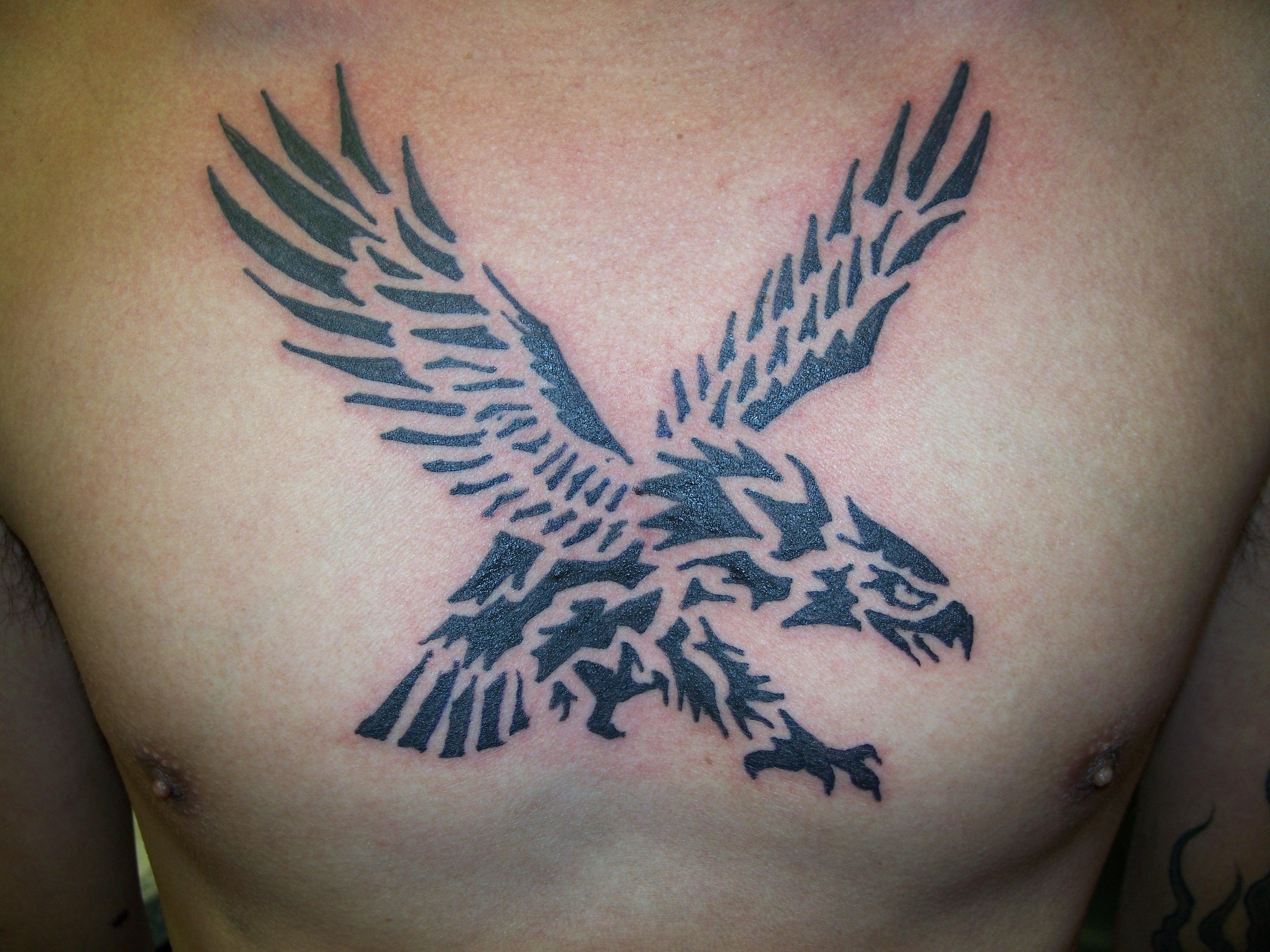 File Tribal Eagle Tattoo By Keith Killingsworth Jpg Wikimedia Commons