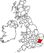 Essex shown within the United Kingdom